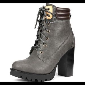 0741 Fashion Ankle Boots - Chunky High bootie
